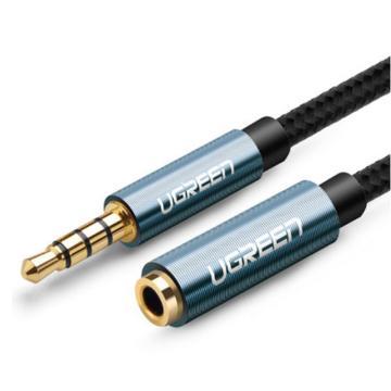 绿联 3.5公对母音频延长线,带编网款 黑色2米 单位:条