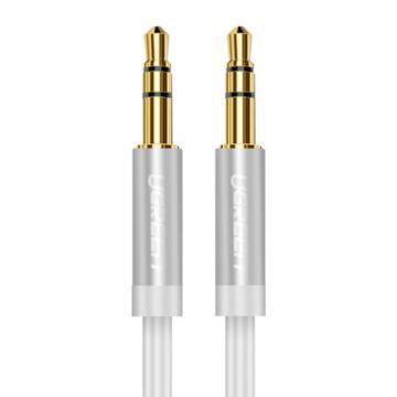 绿联 AUX车载音频线, 手机、MP3/4接音箱音频线 圆线白色直头对直头 镀金2米 单位:条(售完即止)