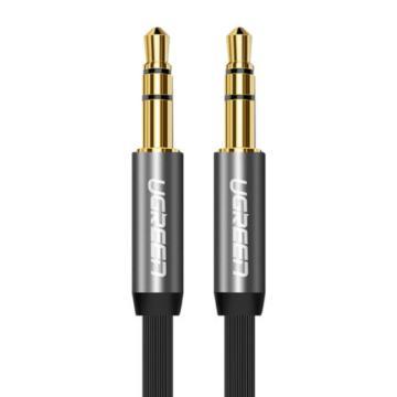 绿联 AUX车载音频线, 手机、MP3/4接音箱音频线 面条线 黑色直头对直头 镀金0.5米 单位:条(售完即止)