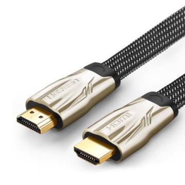 绿联 新版HDMI线连接线, 豪华金属接头 扁线 高密度尼龙编网防磨损 1.4版3米 单位:条(售完即止)