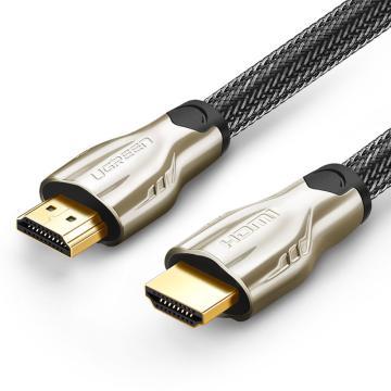 绿联 新版HDMI线连接线, 豪华金属接头 圆线 高密度尼龙编网防磨损 1.4版0.5米 单位:条