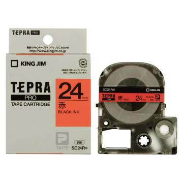锦宫 彩色标签,黑字红底24mm×8m每卷(浅淡色) SC24R 单位:个