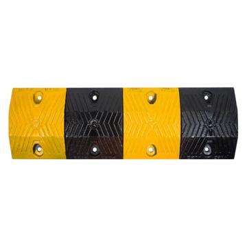 铸钢烤漆减速带,单块尺寸长250×宽350×高50mm(不含端头,含安装配件)