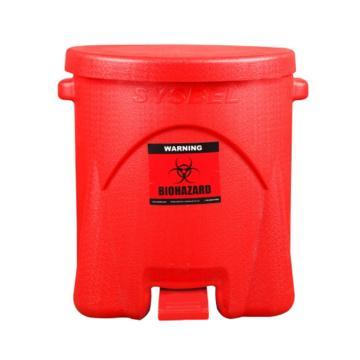 西斯贝尔SYSBEL 生化垃圾桶,红色,14G/52.9L,内部尺寸510×410mm,WA8109600