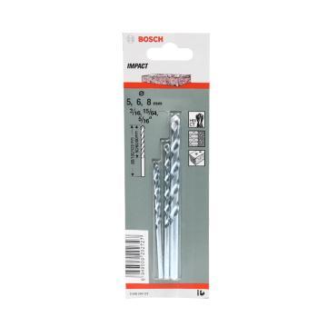 博世Bosch 石工冲击钻头,石工钻头3-10mm (8支装),2608590091