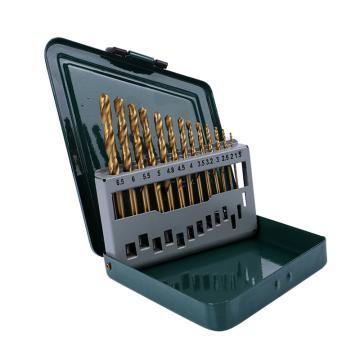 博世麻花钻头套装,镀钛麻花钻头13支 1.5-6.5mm,2607019436