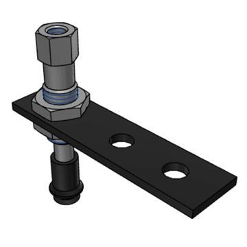 SMC 真空吸盘,风琴型,硅橡胶,可回转,纵向真空引出型,带缓冲,ZPT06BSJ6-B5-A8