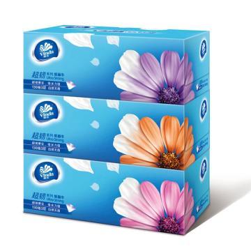 维达(Vinda) 抽纸,V2218 超韧3层130抽盒抽*3盒 单位:提