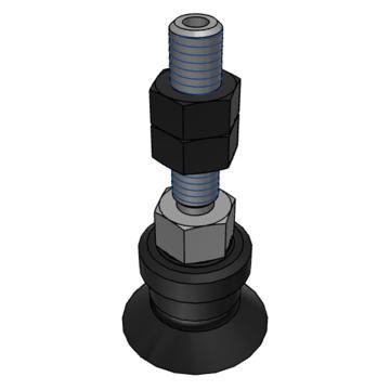 SMC 真空吸盘,平型,硅橡胶,纵向真空引出型,不带缓冲,ZPT16US-A5