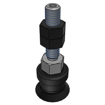 SMC 真空吸盘,平型,硅橡胶,纵向真空引出型,不带缓冲,ZPT13US-A5