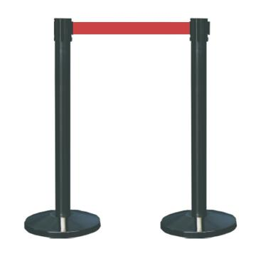 襄辰 喷塑伸缩护栏,红色护栏带,带长2m,高910mm,直径63mm,HL003