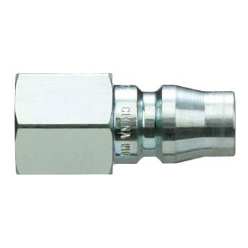 SMC 对接式内牙快插插头,带单向阀,KK130P-02F