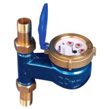 埃美柯/AMICO 铜壳旋翼立式湿式热水表,LXSLR-15E,丝口连接,销售代号:091-DN15
