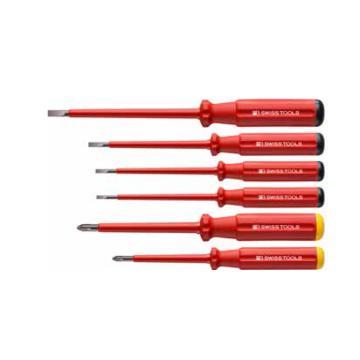 PB SWISS TOOLS 绝缘一字十字螺丝刀绝缘螺丝刀套装,6件套,PB 5542,绝缘改锥 起子 螺丝批套装