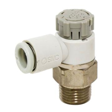 """SMC 弯头调速阀,排气节流,R1/8"""",接管6mm,AS2201F-01-06A"""