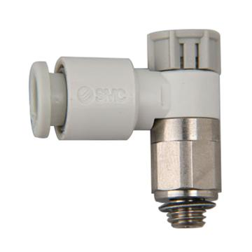 SMC 弯头调速阀,排气节流,M5x0.8,接管6mm,AS1201F-M5-06A