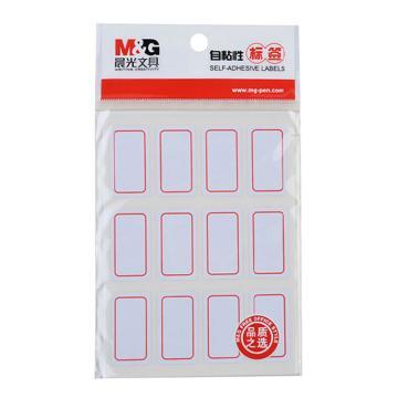 晨光 M&G 自粘性标签,YT-14 12枚X10 32*18mm (红) 10张/包 单位:包