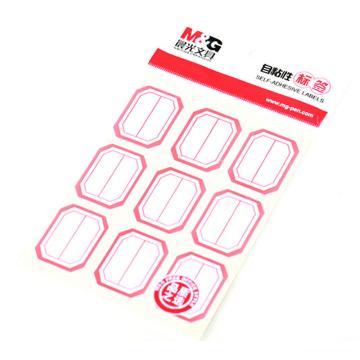 晨光 M&G 自粘性标签,YT-11 9枚X10 33*25mm (红) 10张/包 单位:包