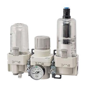 "SMC 三联件,接管Rc1/2"",自动排水,有压力表,AC40-04DG-S-A"