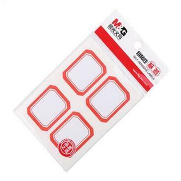 晨光 M&G 自粘性标签,YT-07 4枚X10 45*35mm (红) 10张/包 单位:包