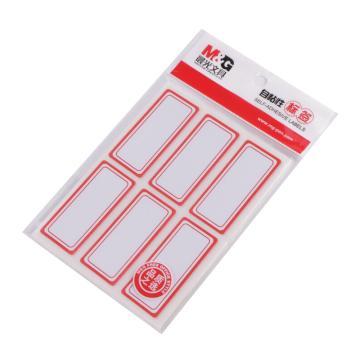 晨光 M&G 自粘性标签,YT-06 6枚X10 55*24mm (红) 10张/包 单位:包