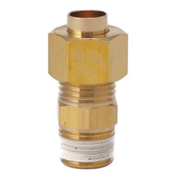 SMC 直通外螺纹嵌入式管接头,黄铜衬套,KFH10B-03S