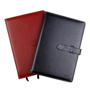 晨光 M&G 皮革胶套本,APY4G381 A5 (混色,黑/酒红) 100页/本 单位:本