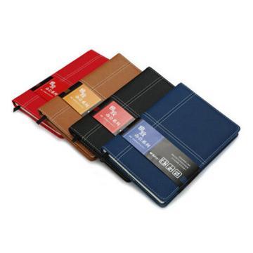 晨光 M&G 雅致办公皮革胶套本,APY4K361 B5 (黑、红、蓝、黄混色) 124页/本 单位:本