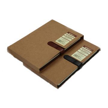晨光 M&G 皮革胶套本,APY4F381 B5 (混色,黑/酒红) 100页/本 单位:本