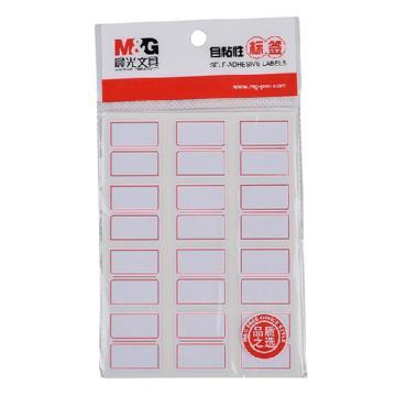 晨光 M&G 自粘性标签,YT-16 12枚X10 27*24mm (红) 10张/包 单位:包