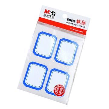晨光 M&G 自粘性标签,YT-08 4枚X10 45*35mm (蓝) 10张/包 单位:包