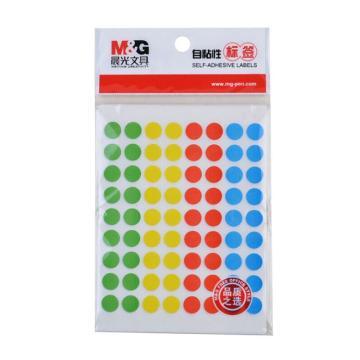 晨光 M&G 自粘性标签,YT-20 72枚X10 Φ9mm (多彩) 10张/包 单位:包