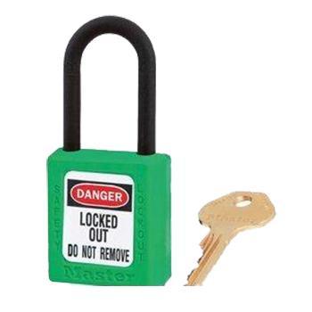 玛斯特锁MasterLock 绿色XENOY工程塑料安全锁,塑料锁钩、绝缘、防磁、防电火花,406MCNGRN