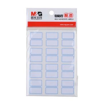 晨光 M&G 自粘性标签,YT-17 12枚X10 27*24mm (蓝) 10张/包 单位:包
