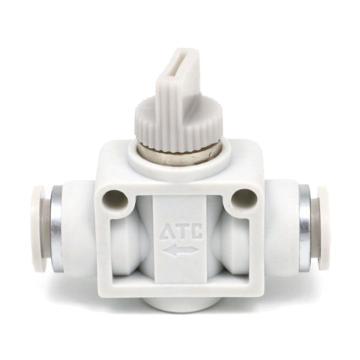 亚德客AirTAC 两端插管型热塑球阀,AHVFF10-10B