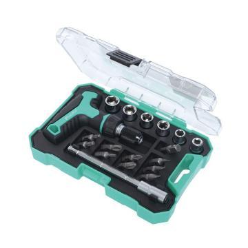 宝工 Pro'skit 18合1 T型柄迷你棘轮组棘轮螺丝刀套筒起子组棘轮螺丝刀套装,SD-2320M