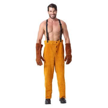 友盟 焊接工作裤,AP-2230-XL,金黄全皮工作裤