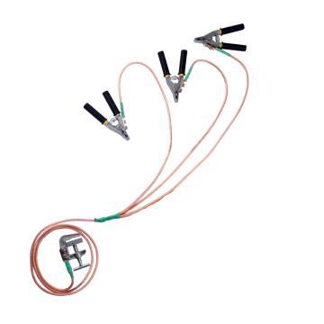 华泰 0.1-10kV接地线(3*1米+2米 25平方线+3根接线夹+1接地夹),个人安保线