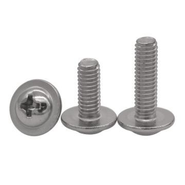 法思特 DIN967十字盘头带垫机螺钉,M3-0.5X10,不锈钢304,洗白,2800个/盒