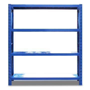 云洁 轻型货架主架,100kg,尺寸(长*宽*高mm):1200*400*2000,4层,蓝色 ,安装费另询