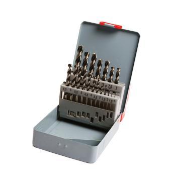 史丹利STANLEY 高速钢麻花钻头组套,19件套,95-233-23,直柄麻花钻套装手电钻钻头套装钻咀套装