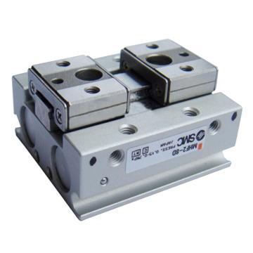 SMC 平行开闭型气爪,薄型,短行程,侧面配管型,MHF2-16DR
