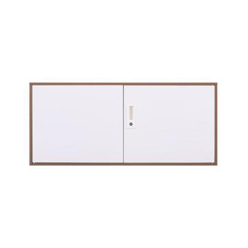 拆装咖白对开顶柜,900宽*400深*400高,咖白色,钢板厚度为0.8mm