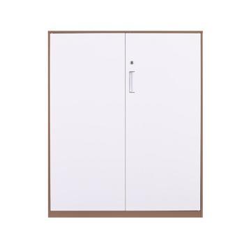 拆装咖白对开铁门柜,900宽*400深*1090高,咖白色,钢板厚度为0.8mm