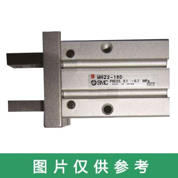 SMC 平行开闭型气爪,长行程,单作用(常开),MHZL2-10S