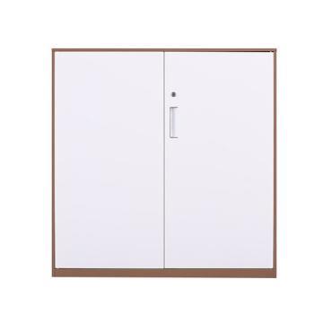 拆装咖白对开铁门柜,900宽*400深*925高,咖白色,钢板厚度为0.8mm
