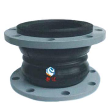 静迈 可曲挠双球体橡胶接头,天然橡胶,碳钢烤漆法兰,KST-F,DN250,PN16