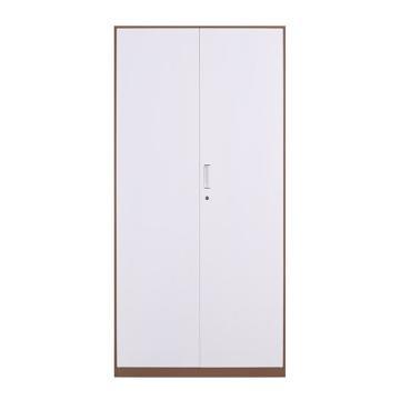 拆装咖白对开铁门文件柜,900宽*400深*1850高,咖白色,钢板厚度为0.8mm