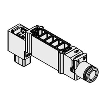 SMC 单独EXH.隔板,适用SY5000系列,接管口径Φ6,SY5OM-39-1A-C6
