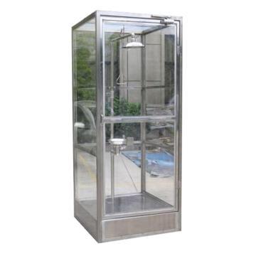 博化 紧急冲淋洗眼房(304不锈钢框架+有机玻璃板),1000×900×2450(长×宽×高)
